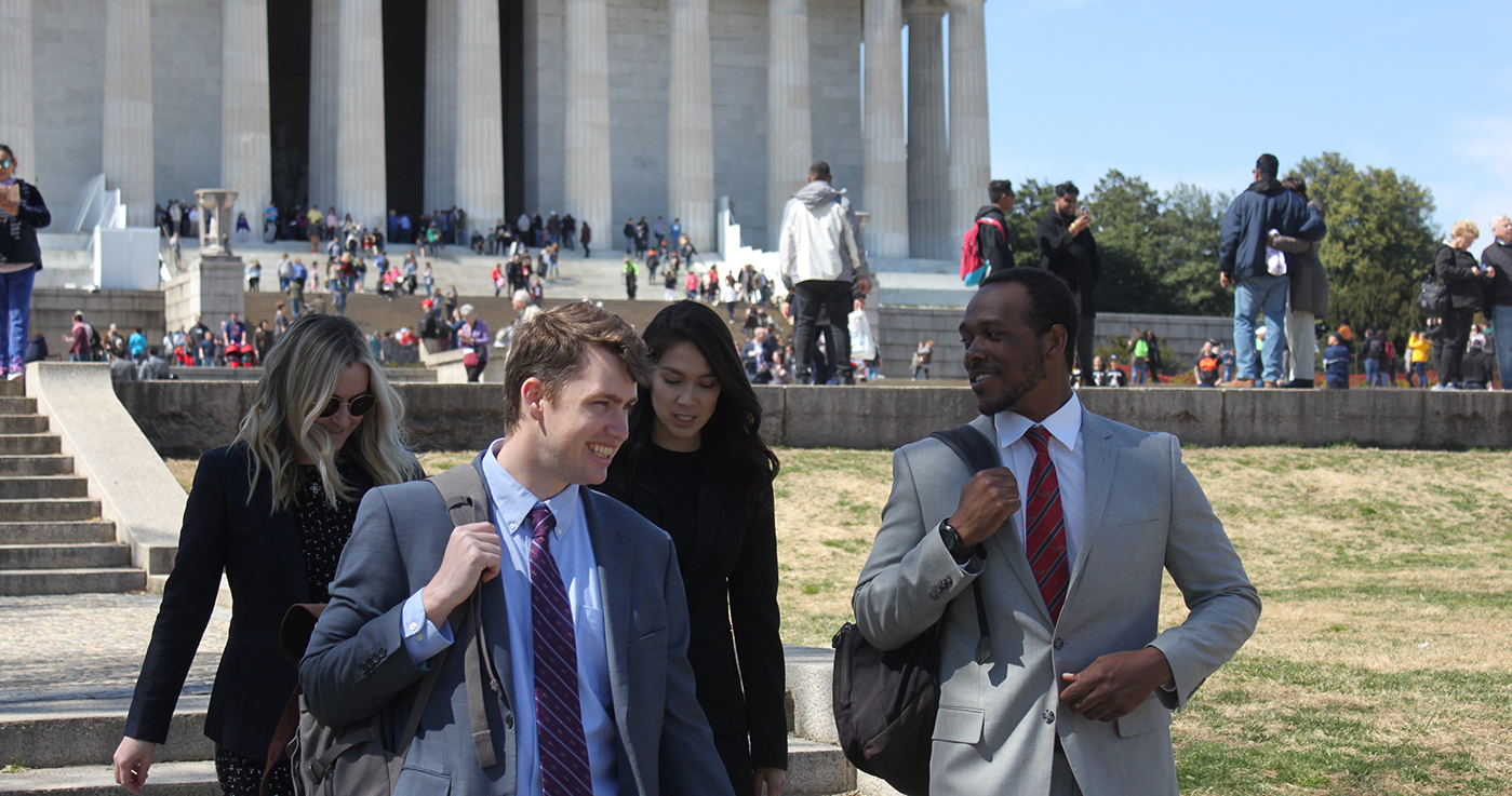 Law students on the National Mall