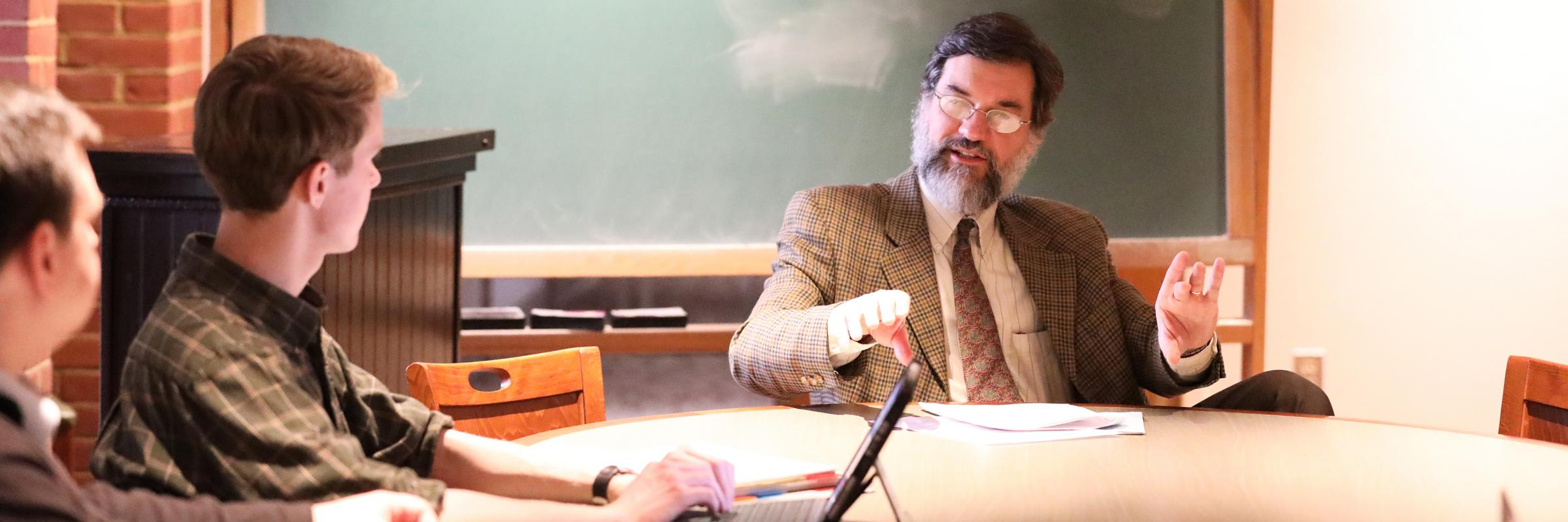 Professor speaks to philosophy students