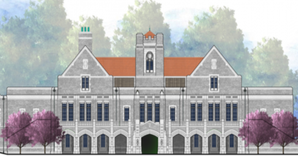Rendering of the new dining hall