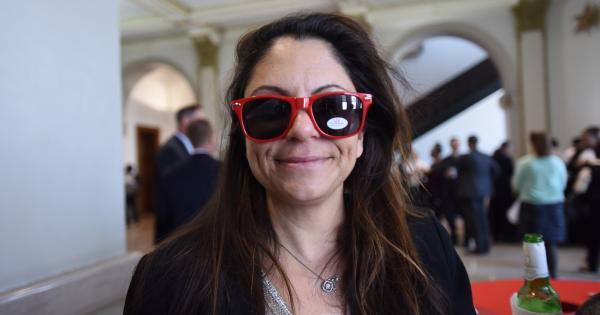 University staff member wearing sunglasses