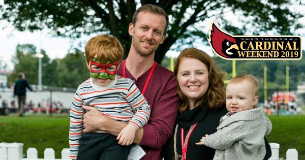 Family at Cardinal Weekend 2018