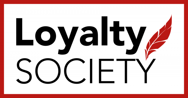 Loyalty Society logo with red feather