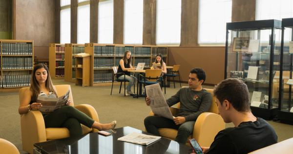 Students studying in Mullen Library