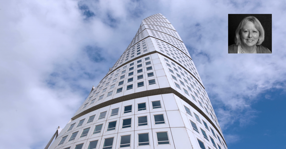 Turning Torso with inset of Hollee Hitchcock Becker