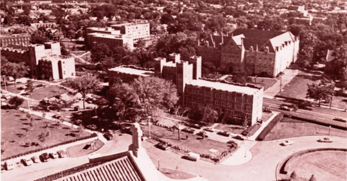 Campus from the Basilica in 1980