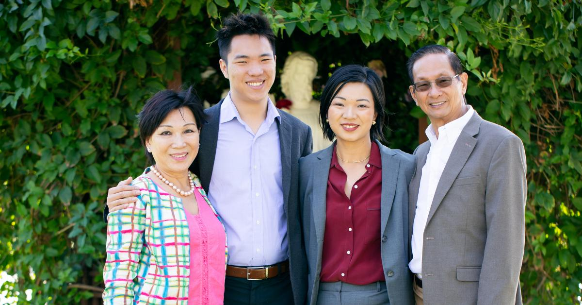 Lynne Tran, Michael, Eileen, and Khanh Le