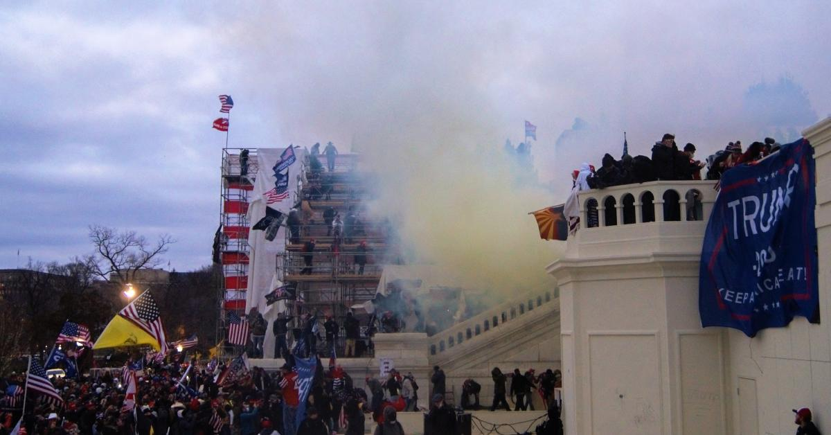 Tear gas at the U.S. Capitol on January 6, 2021