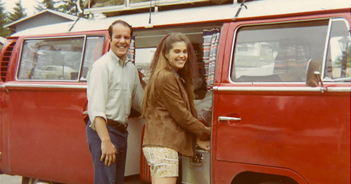Larry Grassini with a VW Van