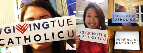 #GivingTueCatholicU unselfies from social media