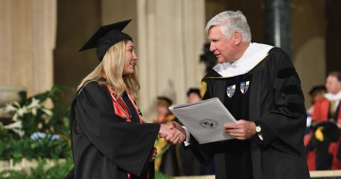 Bill Conway at commencement