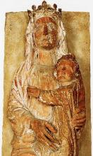 Statue of a French Gothic Madonna and Child
